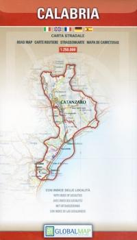 Carta stradale della Calabria - Global Map -