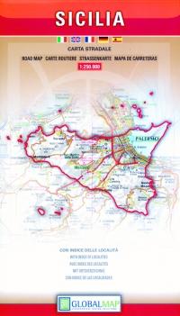 Carta stradale della Sicilia - Global Map -