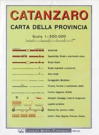 Carta stradale della provincia di Catanzaro - Global Map -